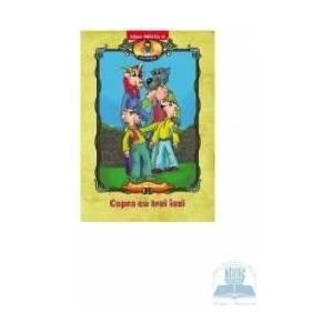 Capra cu trei iezi - Carte de colorat imagine