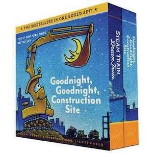 Goodnight, Goodnight, Construction Site and Steam Train, Dream Train Set imagine