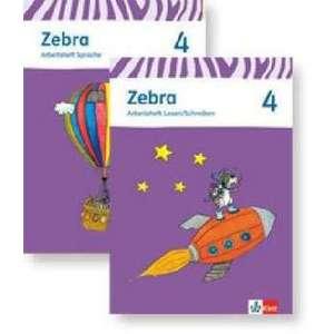 Zebra. Paket (Arbeitsheft Sprache und Arbeitsheft Lesen und Schreiben) 4. Schuljahr. Neubearbeitung imagine