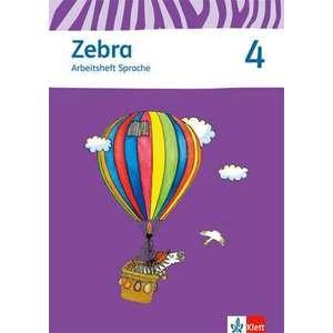 Zebra 4 Arbeitsheft Sprache 4. Schuljahr imagine