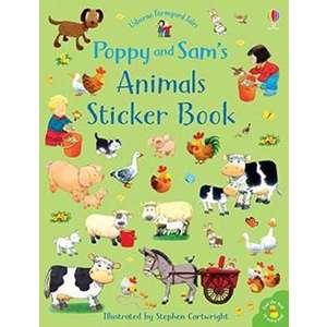 Poppy and Sam's Animals Sticker Book imagine