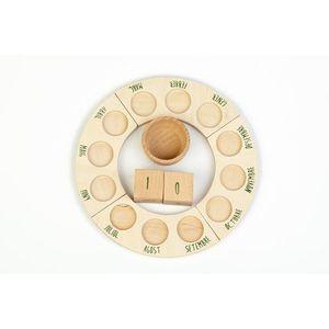 GRAPAT Plataforms, dices & Bowl Perpetual calendar (ENGLISH) imagine