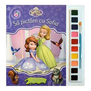 Sofia Intai. Sa pictam cu Sofia. Carte de colorat cu pensula si acuarele   imagine