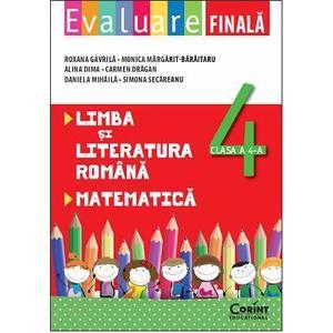 Evaluare finala clasa a IV-a. Limba si literatura romana si matematica imagine
