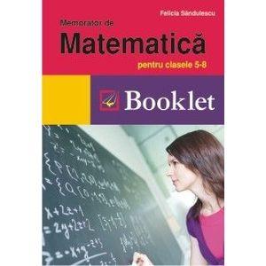 Memorator de matematica pentru clasele 5-8 imagine