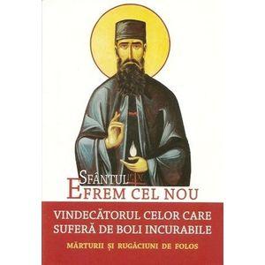 Sfantul Efrem cel Nou. Vindecatorul celor care sufera de boli incurabile imagine
