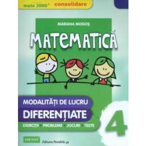 Matematica, clasa a IV-a - Modalitati de lucru diferentiate imagine