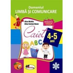 Domeniul Limba si comunicare. Caiet 4-5 ani imagine