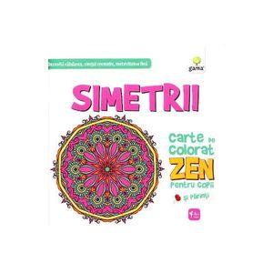 Simetrii. Carte de colorat ZEN imagine