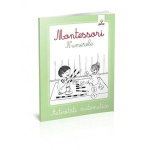 Montessori. Activitati matematice. Numerele. imagine