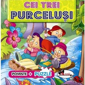 Puzzle Cei trei purcelusi imagine