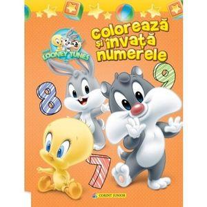 Colorează şi învaţă numerele. Baby Looney Tunes imagine