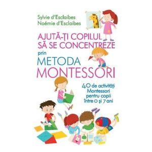 Ajuta-ti copilul sa se concentreze folosind metoda Montessori. 40 de activitati Montessori pentru copii intre 0 si 7 ani imagine