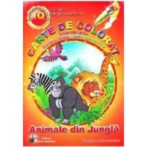 Animale din jungla - Carte de colorat si activitati practice imagine