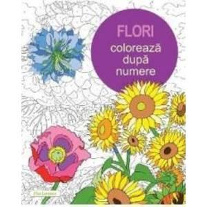 Flori - coloreaza dupa numere imagine