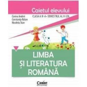 Romana cls 3 caiet sem 2 - Corina Andrei Constanta Balan imagine