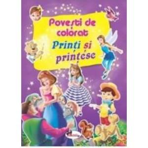 Printi si printese - Povesti de colorat imagine