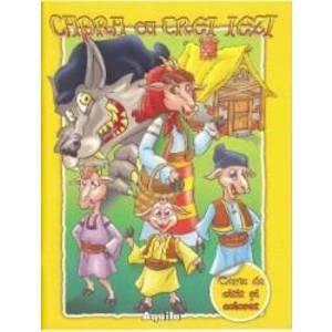 Capra cu trei iezi - Carte de citit si colorat imagine