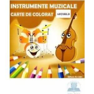 Instrumente muzicale - Carte de colorat imagine
