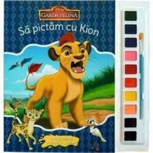 Sa pictam cu Kion - Carte de colorat cu pensula si acuarele imagine