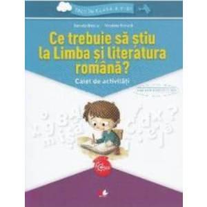 Ce trebuie sa stiu la limba romana Trec in clasa 5 - Caiet - Daniela Besliu Nicoleta Stanica imagine