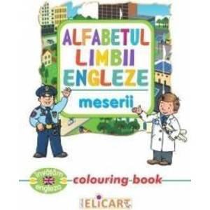 Alfabetul limbii engleze Meserii Colouring Book imagine