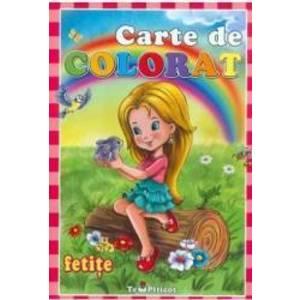 Carte de colorat: Fetite imagine