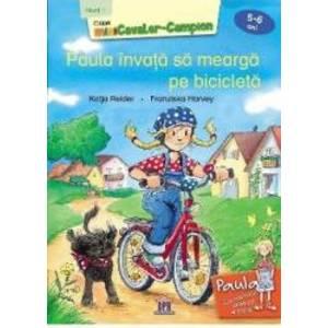 Paula invata sa mearga pe bicicleta 5-6 ani Nivel 1 - Katja Reider Franziska Harvey imagine