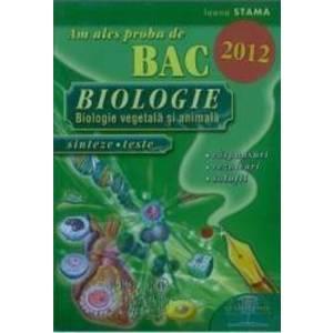 Am ales proba de bac biologie 2012 - Ioana Stama imagine