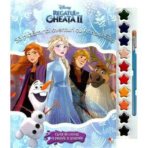 Disney: Regatul de gheata II. Sa pictam noi aventuri cu Anna si Elsa. Carte de colorat imagine