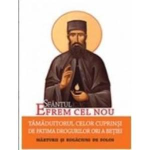 Sfantul Efrem Cel Nou Tamaduitorul Celor Cuprinsi De Patima Drogurilor Ori A Betiei imagine