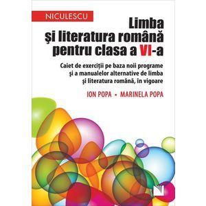Limba și literatura română pentru clasa a VI-a. Caiet de exerciții pe baza noii programe și a manualelor alternative de limba și literatura română, in vigoare imagine