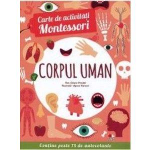 Carte de activitati Montessori Corpul uman - Chiara Piroddi imagine