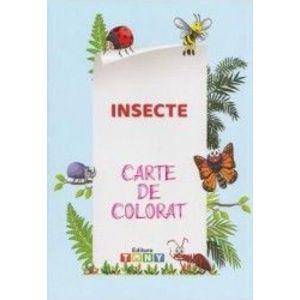 Insecte. Carte de colorat imagine