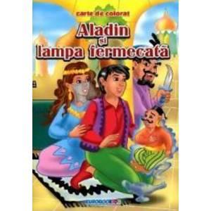 Aladin si lampa fermecata - Carte de colorat imagine