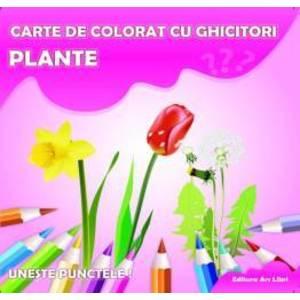 Carte de colorat cu ghicitori - Plante imagine