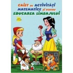 Caiet de activitati matematice si pentru educarea limbajului 3-5 ani imagine