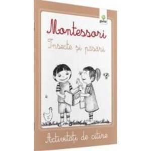Montessori Pasari si insecte - Activitati de citire imagine