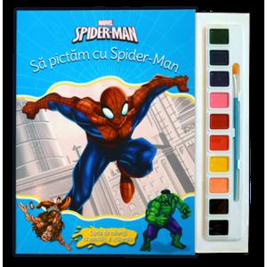 Spider-man. Să pictăm cu Spider-Man. Carte de colorat cu pensulă și acuarele imagine
