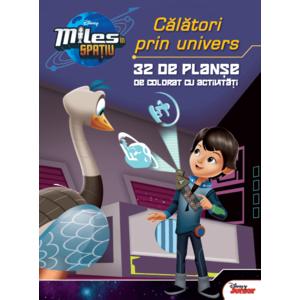 Miles în spațiu. Călători prin univers. 32 de planșe de colorat cu activități imagine