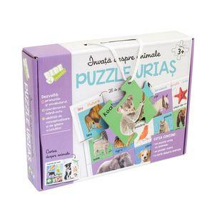 Invata despre animale. Puzzle urias imagine