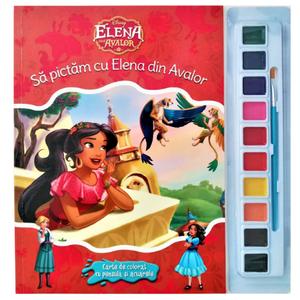 Disney. Elena din Avalor. Să pictăm cu Elena din Avalor. Carte de colorat cu pensulă și acuarele imagine