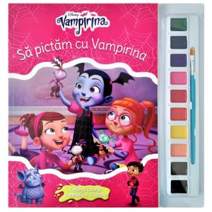 Disney. Vampirina. Să pictăm cu Vampirina. Carte de colorat cu pensulă și acuarele imagine