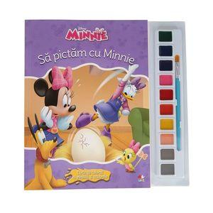 Minnie. Să pictăm cu Minnie. Carte de colorat cu pensulă și acuarele imagine