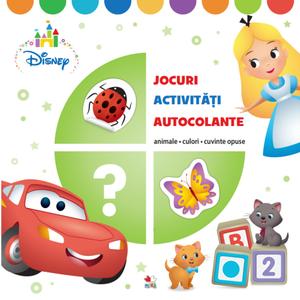 Disney. JOCURI, ACTIVITĂȚI, AUTOCOLANTE. Animale, culori, cuvinte compuse imagine