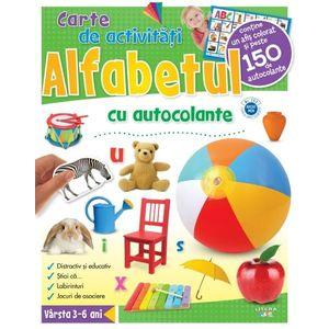 Alfabetul. Carte de activități cu autocolante imagine