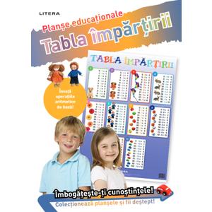 Tabla împărțirii. Planșe educaționale imagine