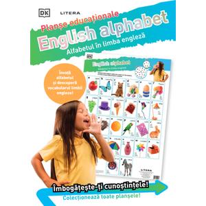 English Alphabet. Alfabetul în limba engleză. Planșe educaționale imagine