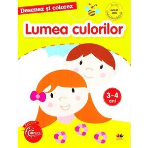 Desenez si colorez. Lumea culorilor 3-4 ani imagine
