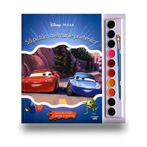 Disney. Pixar. Sa pictam aventurile prietenilor. Carte de colorat cu pensula si acuarele imagine
